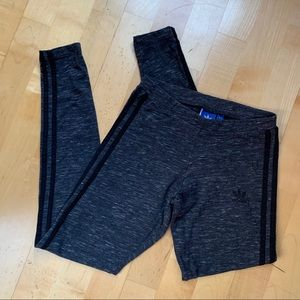 Adidas 3 Stripe Cotton Jersey Tights/Leggings